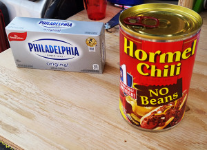 The only ingredient missing is TOBASCO sauce for Tim's Chili Dip Delight