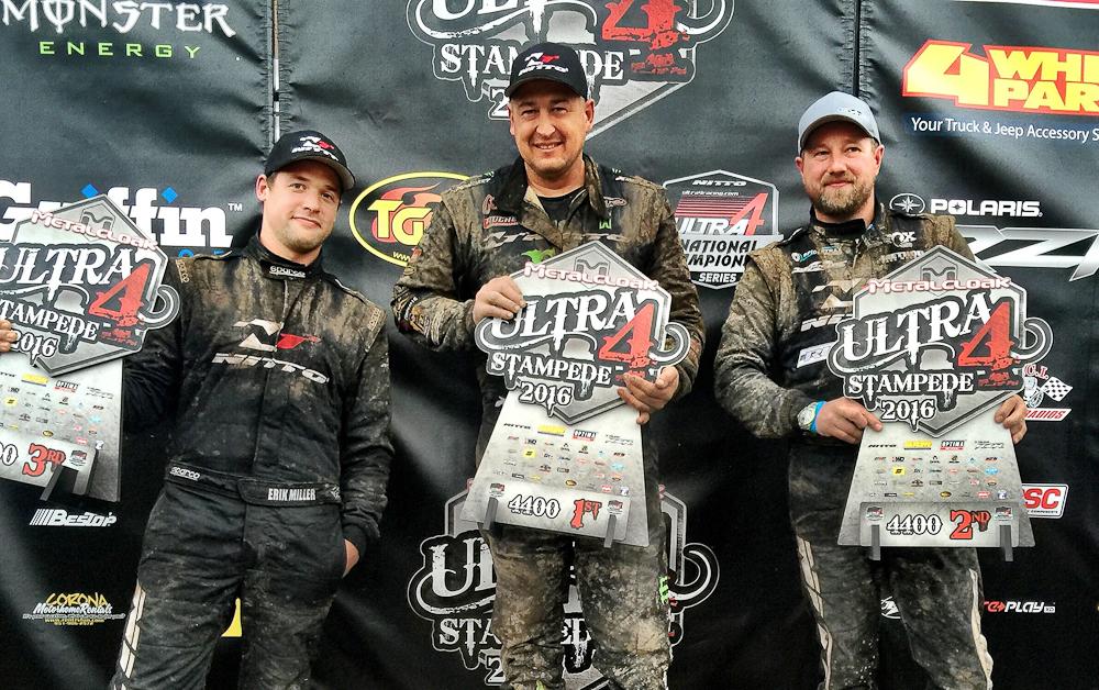 Shannon Campbell, Jason Scherer and Erik Miller take the 2016 Stampede