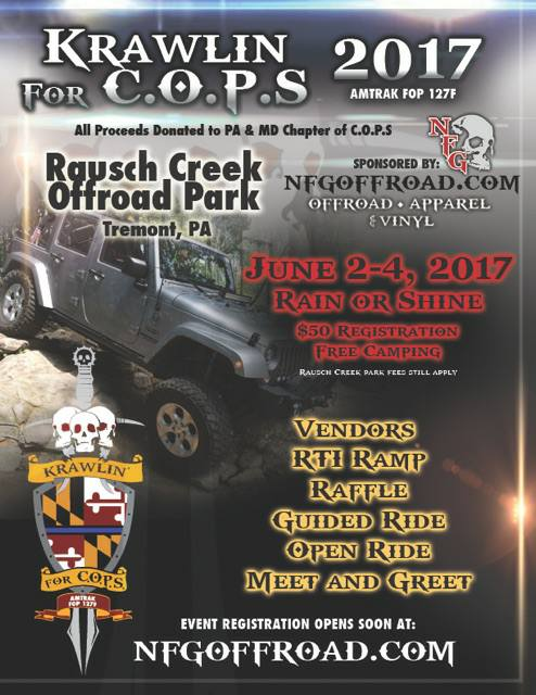 Krawlin For C.O.P.S @ Rausch Creek Offroad Park | | |