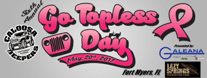 6th Annual Caloosa Jeepers Go Topless Day @ Lazy Springs Recreation Park      
