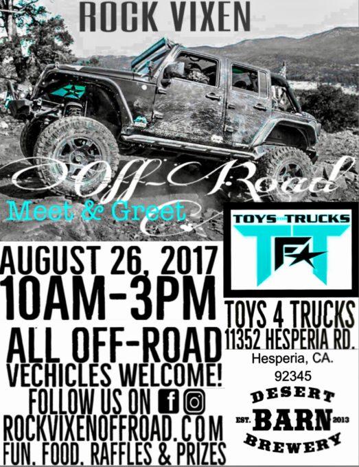 Rock VIXEN off-road Meet & Greet @ Toys for trucks & Desert Barn Brewery Center |  |  |