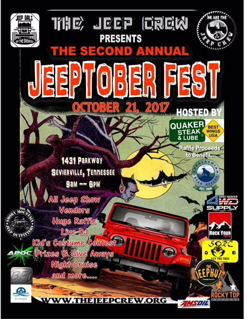 Jeep-Tober Fest in the Smokies @ Quaker Steak & Lube  |  |  |