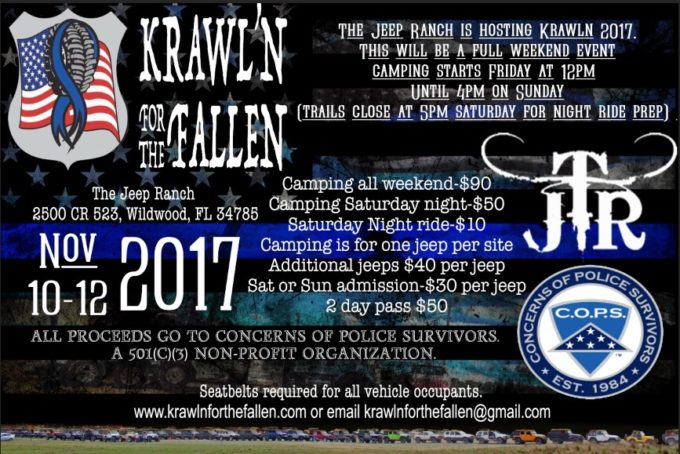 3rd Annual Krawl'n for the Fallen @ The Jeep Ranch  |  |  |