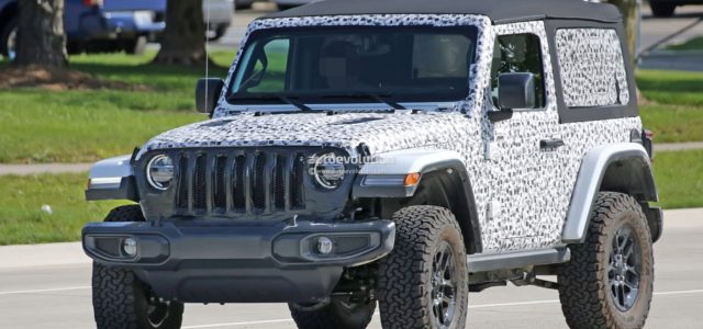SPIED: [pics] JL Wrangler 2-Door Shows Off the New Soft Top