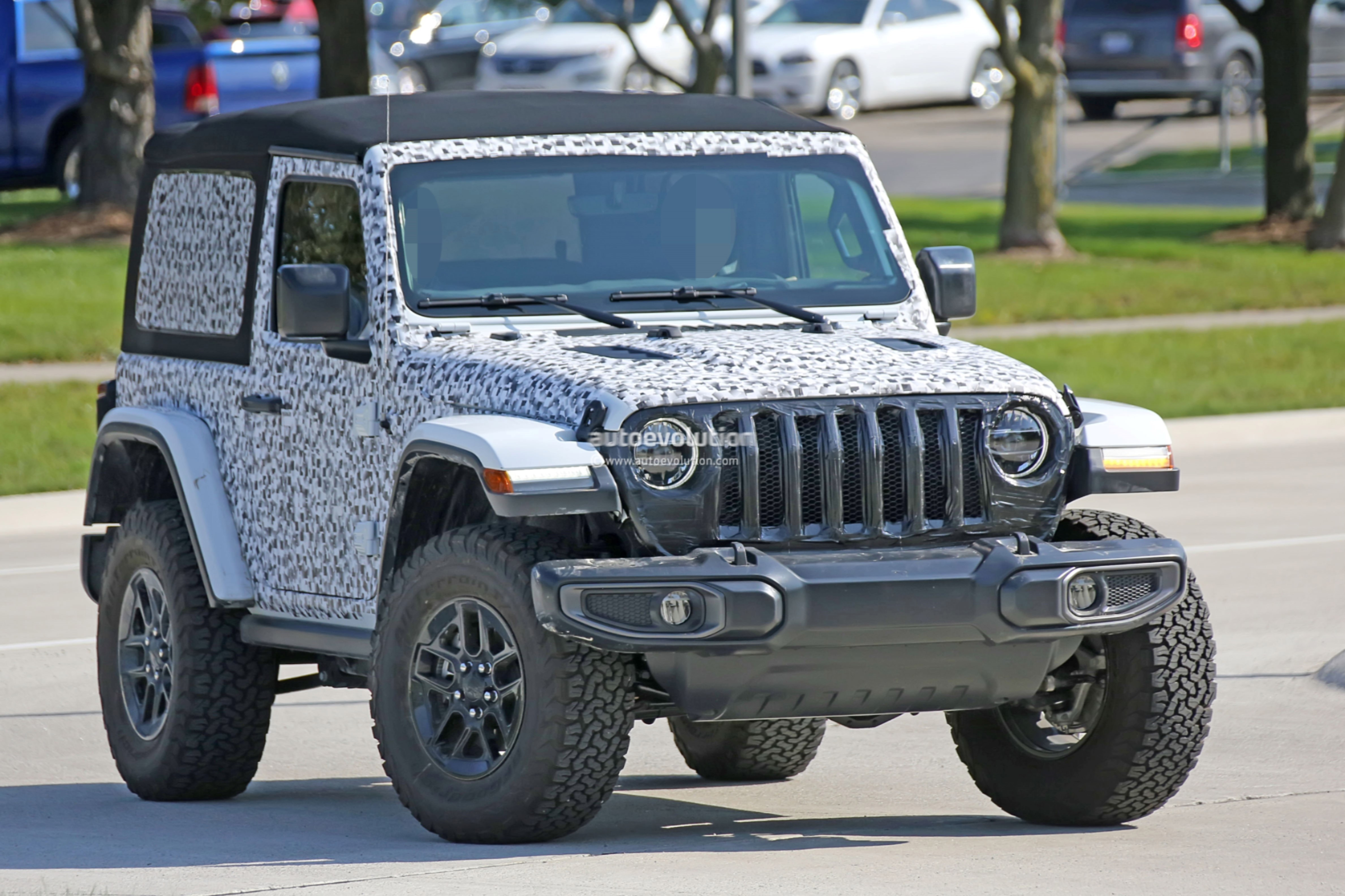 to modern more jeep lines spied can well and new photos current of as grille clearly flow clean the soft wrangler newest be door top doors jl which jk have a off in seen aerodynamic seems shows pics spy than reveals headlights