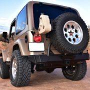 """SAHARA"" Gets a Metalcloak Tire Carrier and ""Ditomic"" Gas Tank Skid"