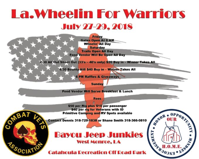 La Wheelin For Warriors @ Catahoula Recreation Off Road Park | | |