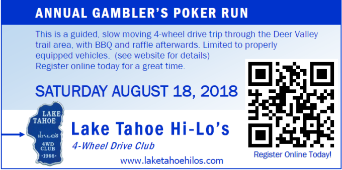 28th Annual Gambler's Poker Run @ Centerville Flat Campground, Markleevlle, CA - Trail is Deer Valley | | |