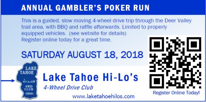 28th Annual Gambler's Poker Run @ Centerville Flat Campground, Markleevlle, CA - Trail is Deer Valley | | |