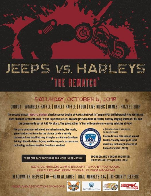 Jeep's Vs. Harley's @ Sun N Fun Airport | | |