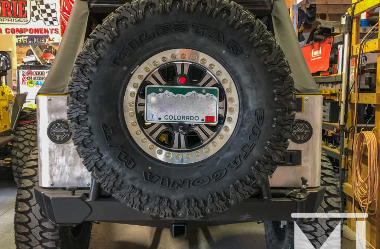 Mounting an 8-lug Wheel on a Rear Tire Carrier
