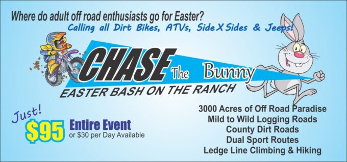Chase the Bunny Easter Bash at the Ranch @ Wilderness Rider Buffalo Ranch & OHV Adventure Park | | |