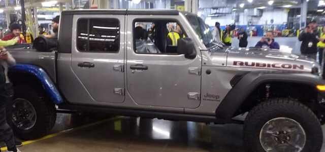Jeep Gladiator Production Model Rolls Off Assembly Line