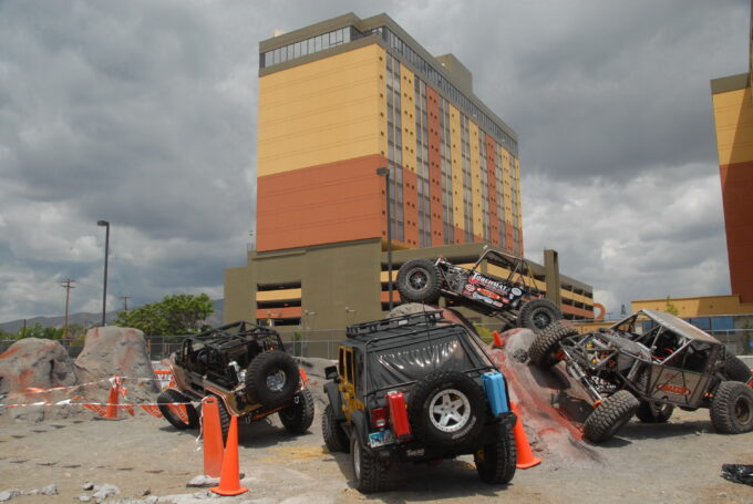 Del Albright photo of Reno Rocks rock crawling event, Sands Regency, Reno, NV