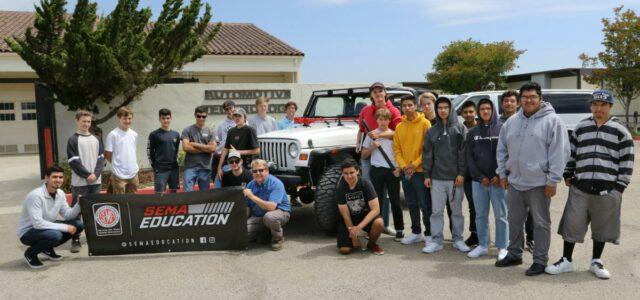 News! SEMA High School Vehicle Build Program Celebrating 3rd Year