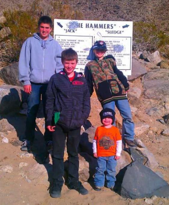 ModernJeeper Kurt Schneider sons and friends in Johnson Valley OHV Area.