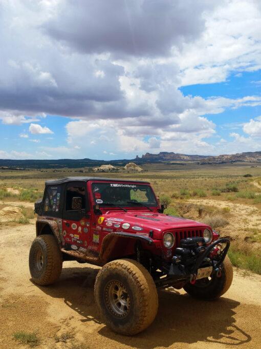 ModernJeeper Del Albright Jeep in San Rafael Swell, Utah.
