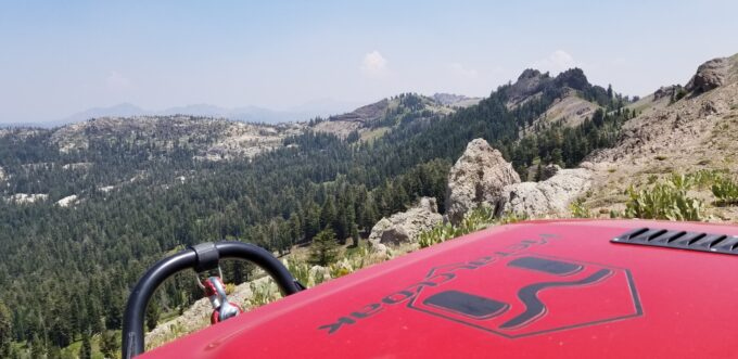 ModernJeeper Del Albright photo of MetalCloak Jeep overlooking Wilderness area.