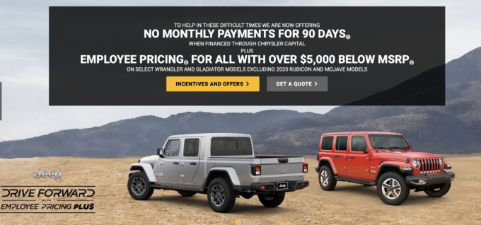 Buy A New Jeep Drive Forward With Employee Pricing Incentives