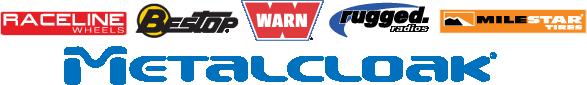 ModernJeeper Podcost Logos Rugged Radios Warn Metalcloak Milestar Bestop Raceline